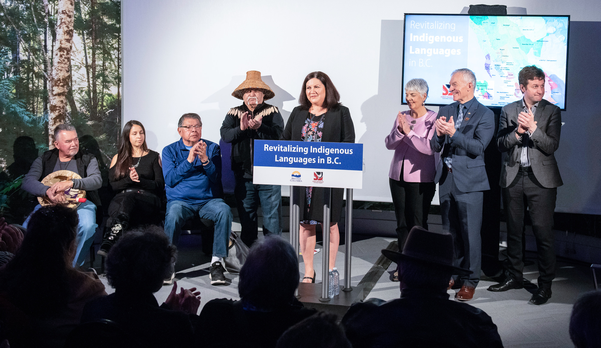 Government announcement of $50 million for Indigenous language revitalization in B.C.