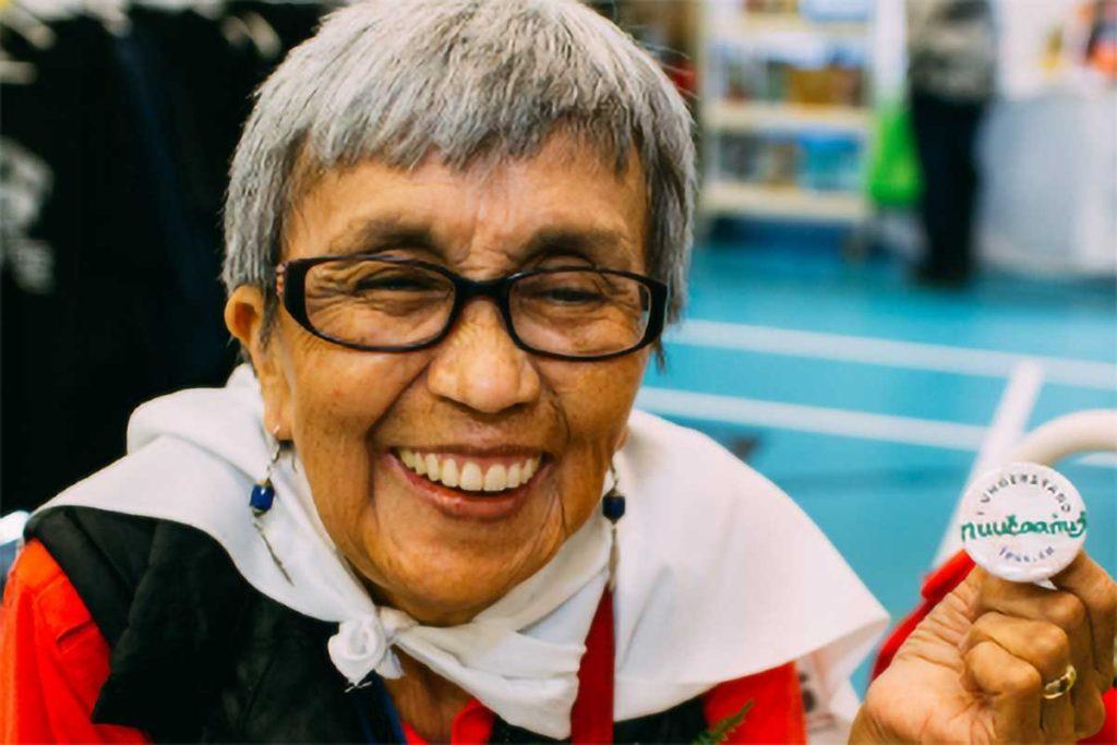 Indigenous Language Art Culture- happy woman
