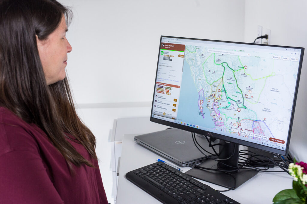 FPCC Employee Zandra Paul explores the First Peoples' Map